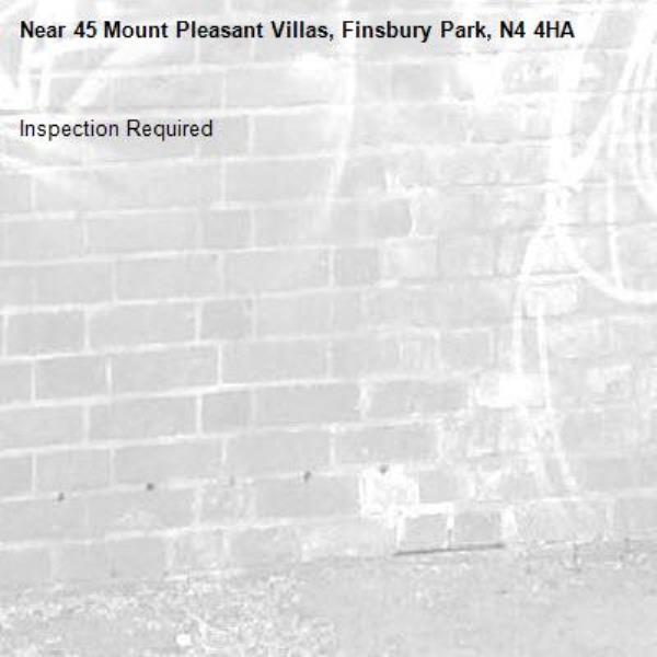 Inspection Required-45 Mount Pleasant Villas, Finsbury Park, N4 4HA