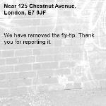 We have removed the fly-tip. Thank you for reporting it.-125 Chestnut Avenue, London, E7 0JF