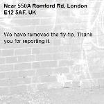 We have removed the fly-tip. Thank you for reporting it.-550A Romford Rd, London E12 5AF, UK