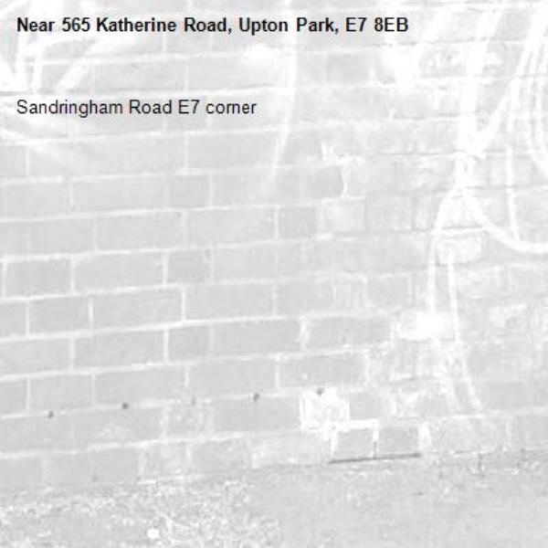 Sandringham Road E7 corner -565 Katherine Road, Upton Park, E7 8EB
