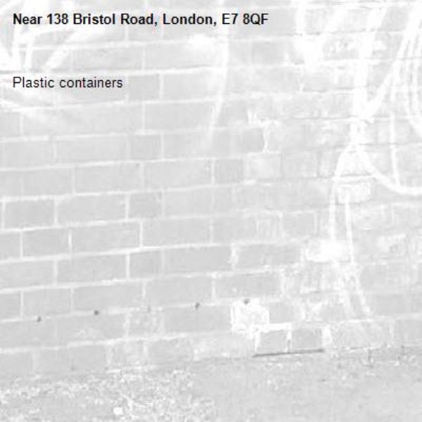 Plastic containers-138 Bristol Road, London, E7 8QF