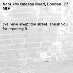 We have swept the street. Thank you for reporting it.-28a Odessa Road, London, E7 9BH