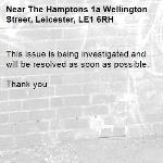 This issue is being investigated and will be resolved as soon as possible.   Thank you -The Hamptons 1a Wellington Street, Leicester, LE1 6RH
