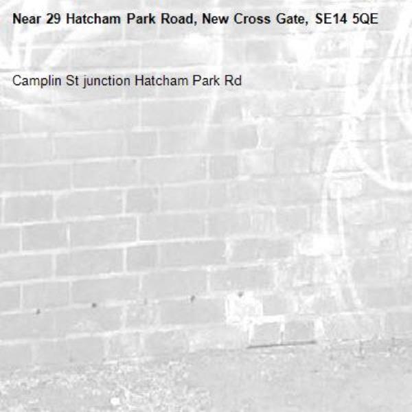 Camplin St junction Hatcham Park Rd-29 Hatcham Park Road, New Cross Gate, SE14 5QE