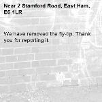 We have removed the fly-tip. Thank you for reporting it.-2 Stamford Road, East Ham, E6 1LR