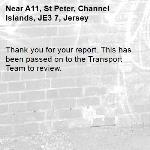 Thank you for your report. This has been passed on to the Transport Team to review.  -A11, St Peter, Channel Islands, JE3 7, Jersey