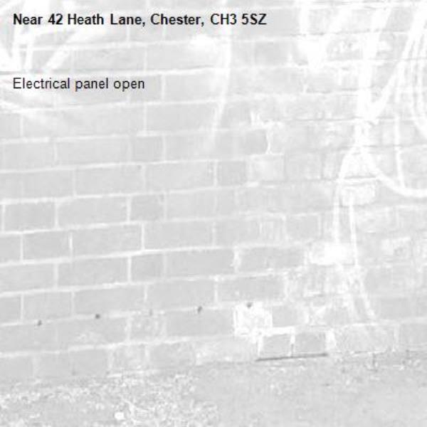 Electrical panel open-42 Heath Lane, Chester, CH3 5SZ