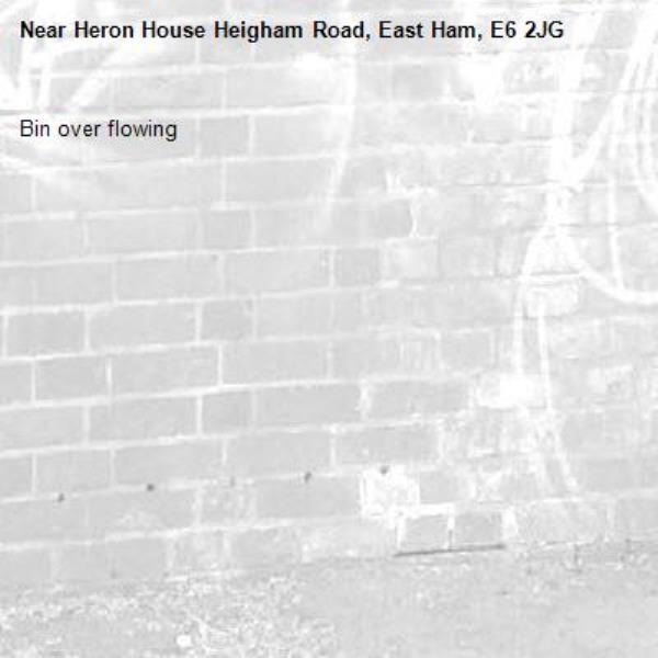 Bin over flowing -Heron House Heigham Road, East Ham, E6 2JG