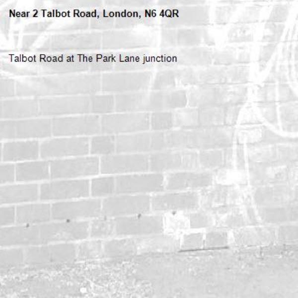 Talbot Road at The Park Lane junction-2 Talbot Road, London, N6 4QR