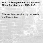 This has been emptied by our Waste and Streets team -24 Runnymede Court Holywell Close, Farnborough, GU14 8LP