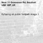 flytipping on public footpath image 1-33 Grosvenor Rd, Southall UB2 4BP, UK
