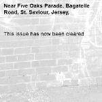 This issue has now been cleared-Five Oaks Parade, Bagatelle Road, St. Saviour, Jersey,