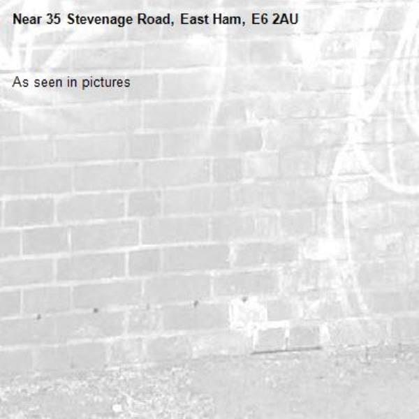As seen in pictures -35 Stevenage Road, East Ham, E6 2AU