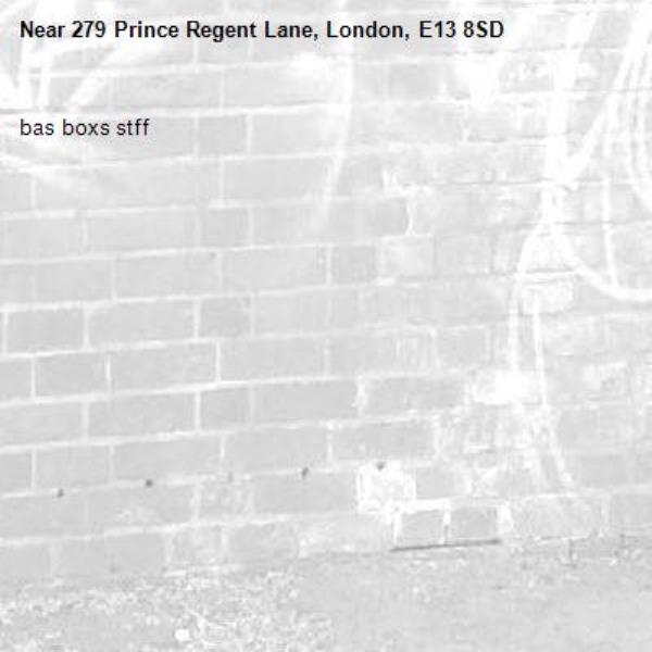 bas boxs stff-279 Prince Regent Lane, London, E13 8SD