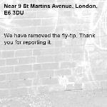 We have removed the fly-tip. Thank you for reporting it.-9 St Martins Avenue, London, E6 3DU