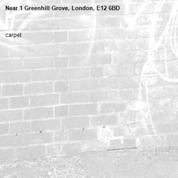 carpet -1 Greenhill Grove, London, E12 6BD