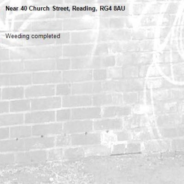 Weeding completed -40 Church Street, Reading, RG4 8AU