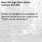 Further investigation is underway to resolve the issue by our supervisors. Thank you for reporting it.-406 High Street North, London, E12 6RH