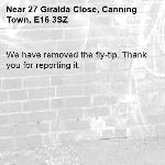We have removed the fly-tip. Thank you for reporting it.-27 Giralda Close, Canning Town, E16 3SZ