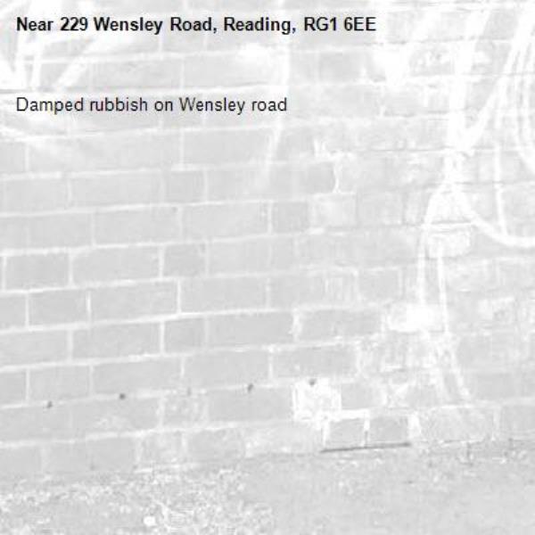 Damped rubbish on Wensley road-229 Wensley Road, Reading, RG1 6EE