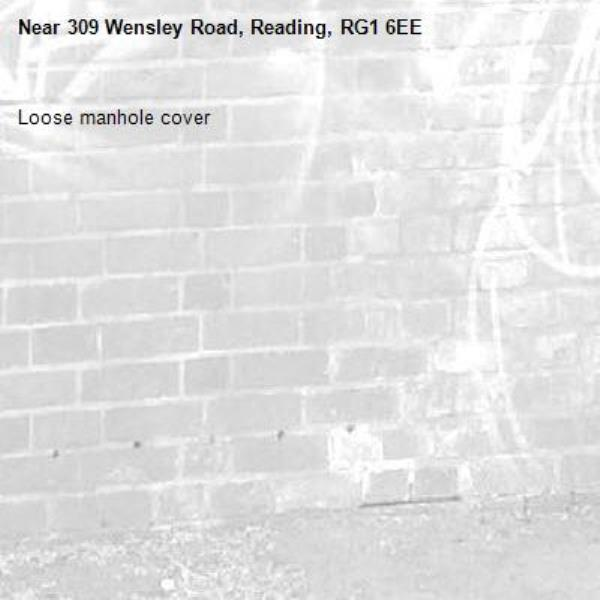 Loose manhole cover-309 Wensley Road, Reading, RG1 6EE