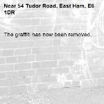 The graffiti has now been removed.-54 Tudor Road, East Ham, E6 1DR