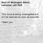 This issue is being investigated and will be resolved as soon as possible.   Thank you -60 Wellington Street, Leicester, LE1 6DS