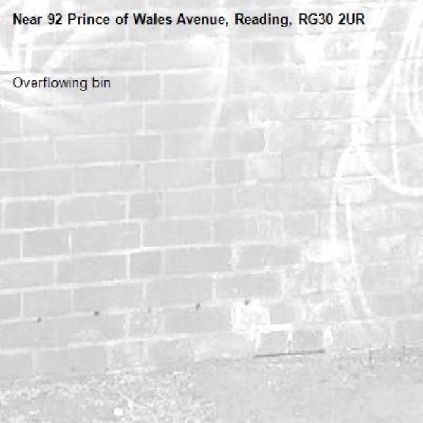 Overflowing bin-92 Prince of Wales Avenue, Reading, RG30 2UR