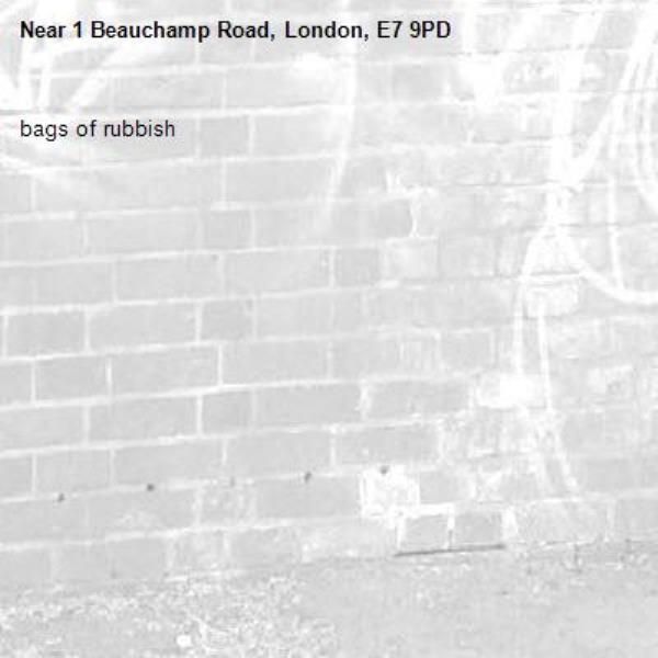 bags of rubbish -1 Beauchamp Road, London, E7 9PD