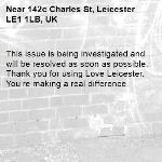 This issue is being investigated and will be resolved as soon as possible. Thank you for using Love Leicester. You're making a real difference. -142c Charles St, Leicester LE1 1LB, UK
