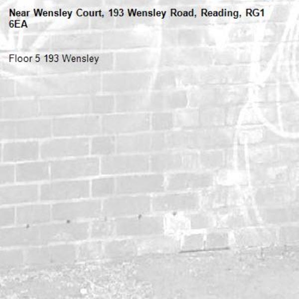 Floor 5 193 Wensley -Wensley Court, 193 Wensley Road, Reading, RG1 6EA