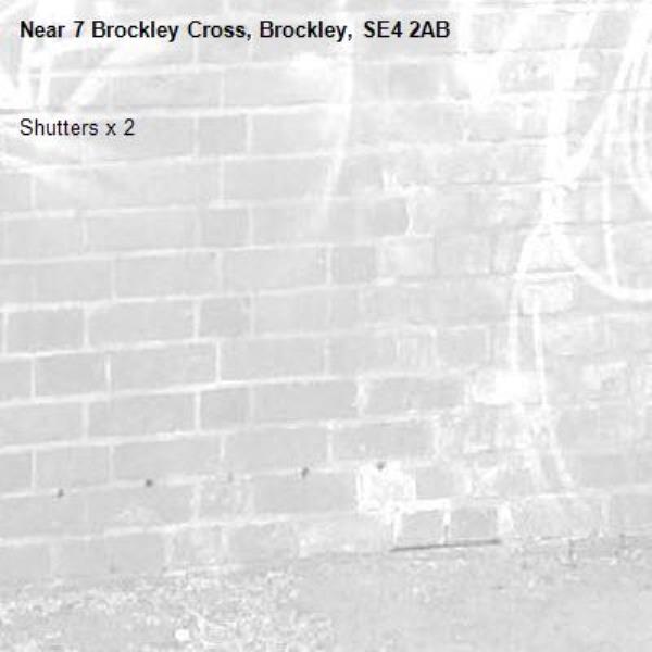 Shutters x 2 -7 Brockley Cross, Brockley, SE4 2AB