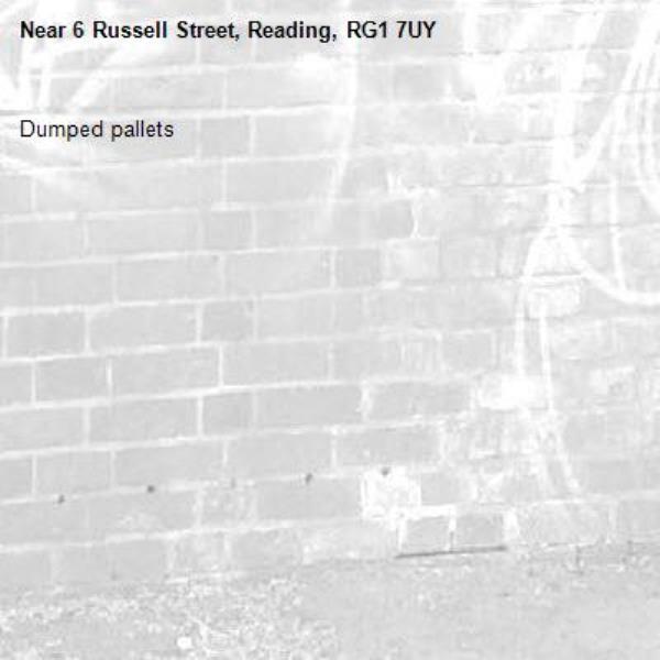 Dumped pallets -6 Russell Street, Reading, RG1 7UY