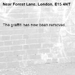 The graffiti has now been removed.-Forest Lane, London, E15 4NT