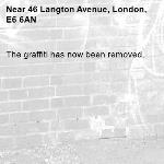 The graffiti has now been removed.-46 Langton Avenue, London, E6 6AN